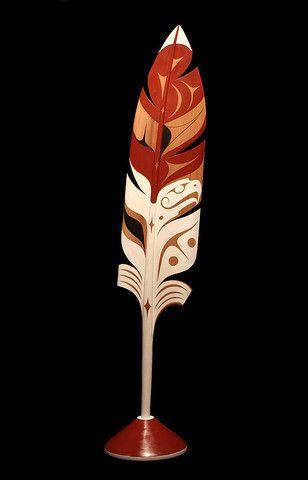 Azore Feather INUIT  ART / ALASKAN NATIVE PEOPLES ' ART / NORTHWESTERN ART / NATIVE CANADIANS' ART : More At FOSTERGINGER @ Pinterest