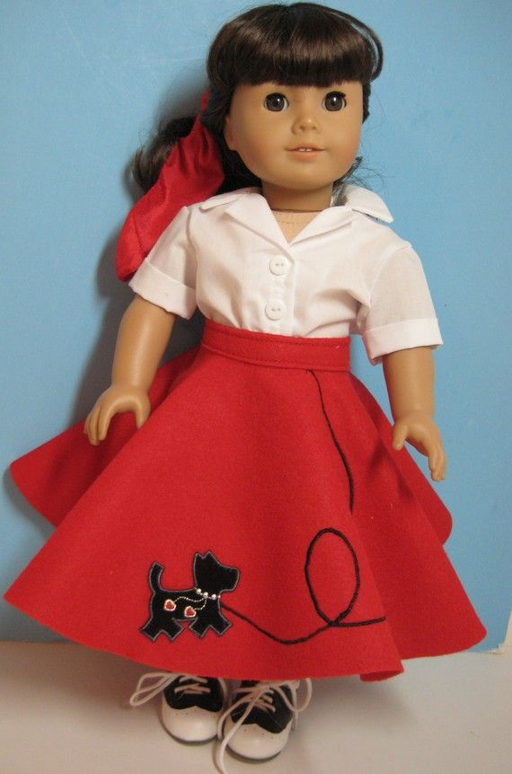 Scottie Dog 50s Outfit Including Saddle Shoes Fits by nayasdesigns