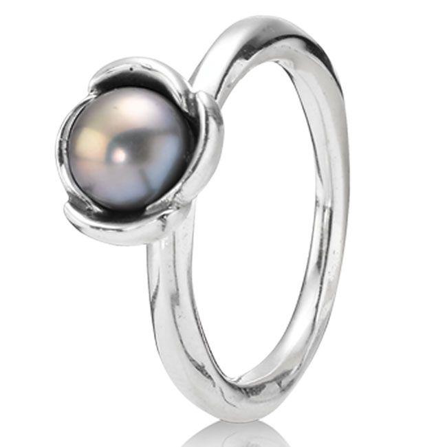 Pandora Grey Pearl Earrings: Pandora My Wish With Grey Pearl Ring