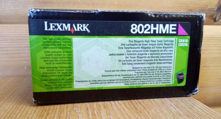 NEW Lexmark 802HME Magenta High Yield Toner Cartridge  in Computers/Tablets & Networking, Printers, Scanners & Supplies, Printer Ink, Toner & Paper | eBay!