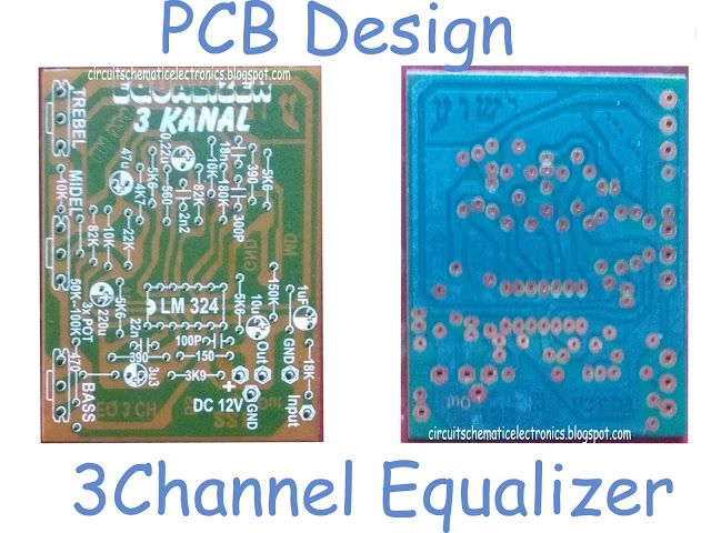 3 Channel Equalizer Using LM324   mid bass treble board