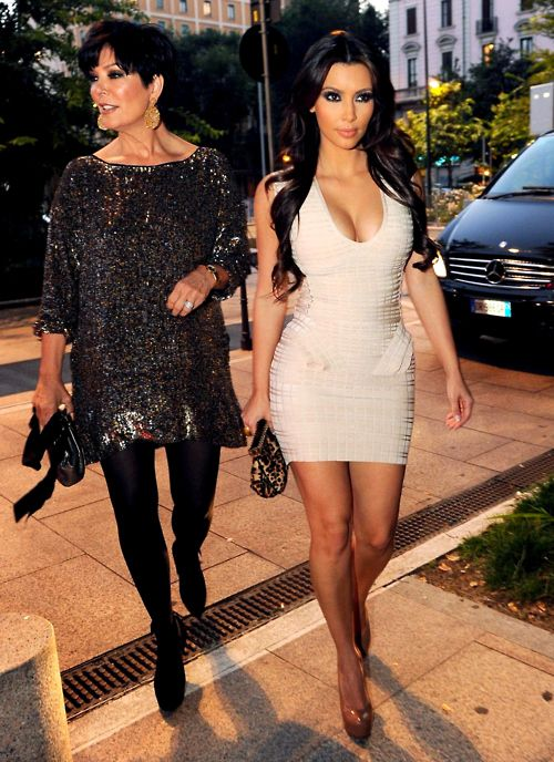 This is going to be me and my mom some day (only not famous.lol.)Bandage Dresses, Cocktails Dresses, Fashion Style, Bridal Dresses, Herve Leger, Lamborghini, Kim Dresses, Kris Jenner, Kardashian Fashion