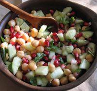 10 Healthy Spanish Salads to Beat the Heat: Cucumber Pomegranate Salad
