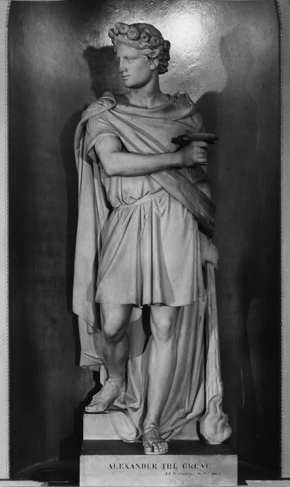 Alexander's Statue in the famous Egyptian Hall of the Mansion House, #London   Sculptor Westmacott, J. S., 1863. #Macedonia #Greece #Art