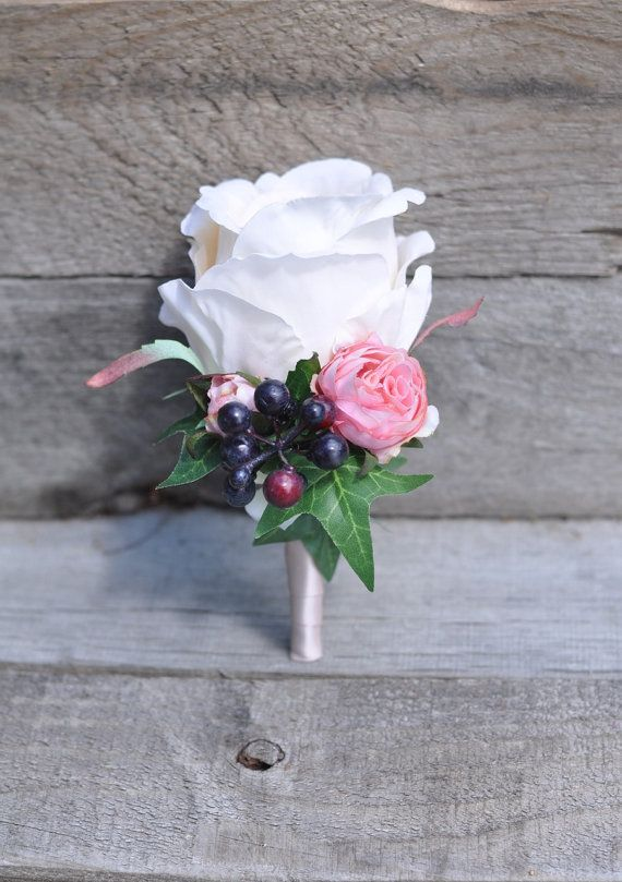 White Garden Rose Boutonniere 237 best men's flowers images on pinterest | marriage