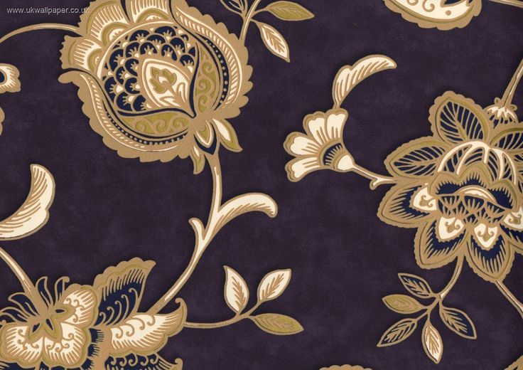 Provence Textured Vinyl Wallpaper Purple Floral