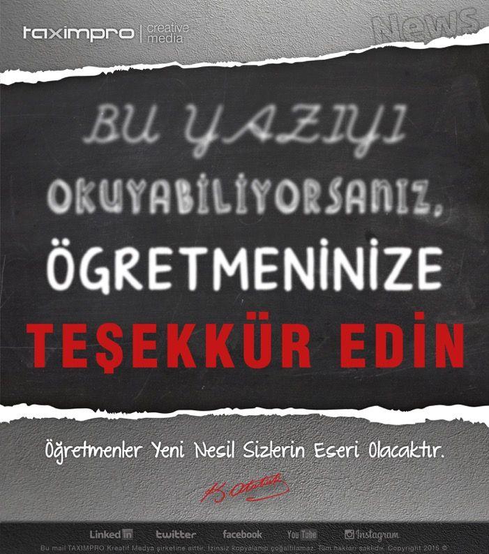 TEŞEKKÜR EDİN..