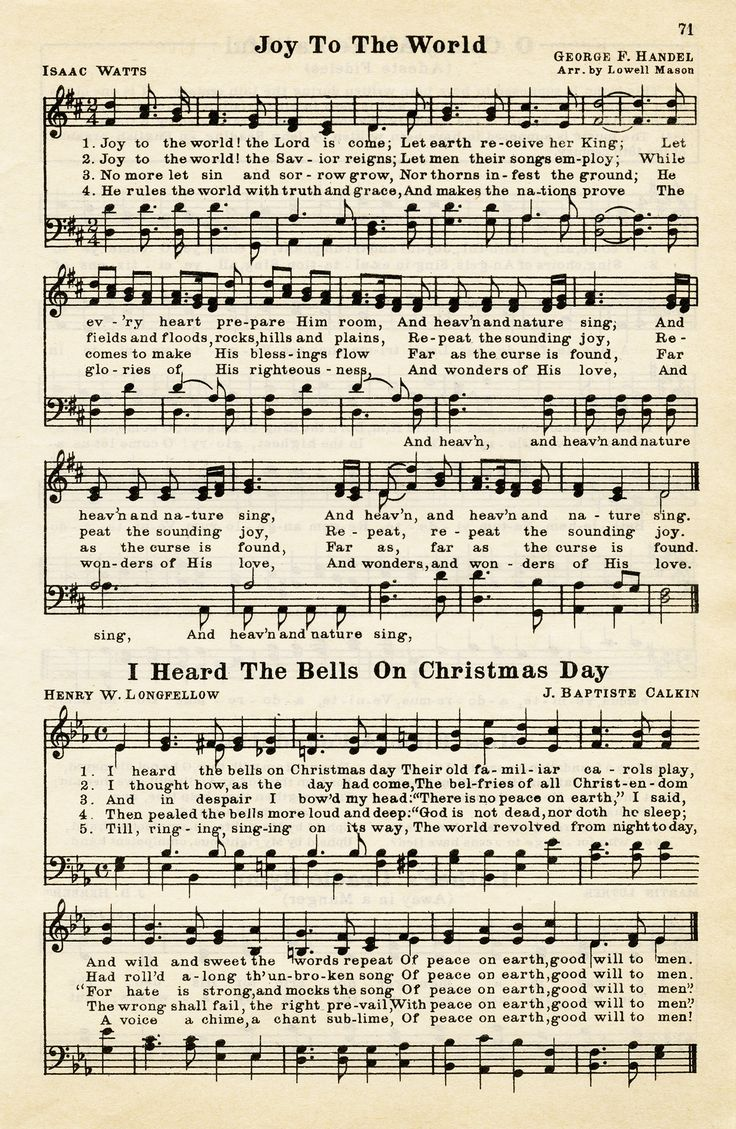 Old Design Shop ~ free digital image: Christmas hymns vintage sheet music