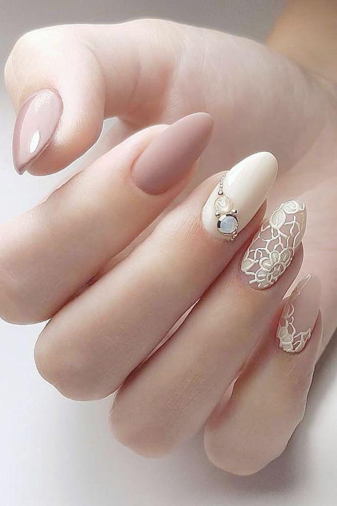 Home Blend Of Bites Bridal Nail Art Bridal Nails Designs Wedding Nail Art Design