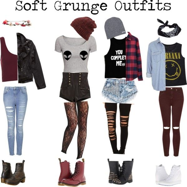 Soft Grunge Outfits - Polyvore LOVE the first and last ones!