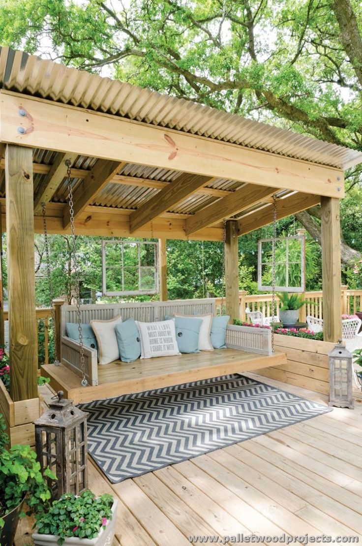 Pallet patio swing - Gorgeous Wooden Pallet Ideas Outdoor Swingsporch