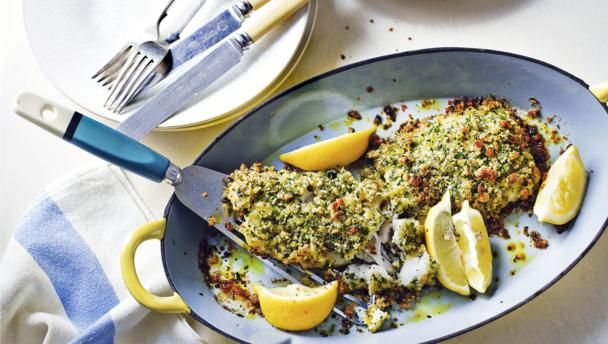The delicate flavour of cod is wonderfully paired with lemon, garlic and parsley in this simple dish. This meal provides 322 kcal, 33g protein, 16g carbohydrate (of which 0.6g sugars), 14g fat (of which 8g saturates), 0.6g fibre and 0.9g salt per portion.