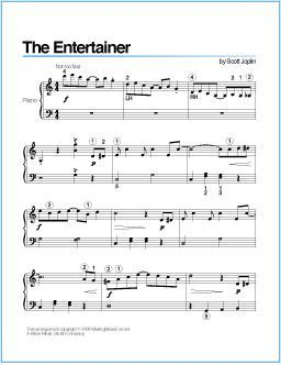 The Entertainer (Joplin) | Printable Sheet Music for Piano