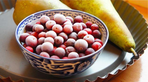 Perentaart met Terschellinger cranberries