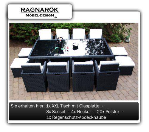 PolyRattan Essgruppe DEUTSCHE MARKE -- EIGNENE PRODUKTION Tisch + 8x Stuhl & 4x Hocker 7 Jahre GARANTIE Garten Möbel incl. Glas und Sitzkissen Ragnarök-Möbeldesign (schwarz) Gartenmöbel Jetzt bestellen unter: http://www.woonio.de/produkt/polyrattan-essgruppe-deutsche-marke-eignene-produktion-tisch-8x-stuhl-4x-hocker-7-jahre-garantie-garten-moebel-incl-glas-und-sitzkissen-ragnaroek-moebeldesign-schwarz-gartenmoebel/