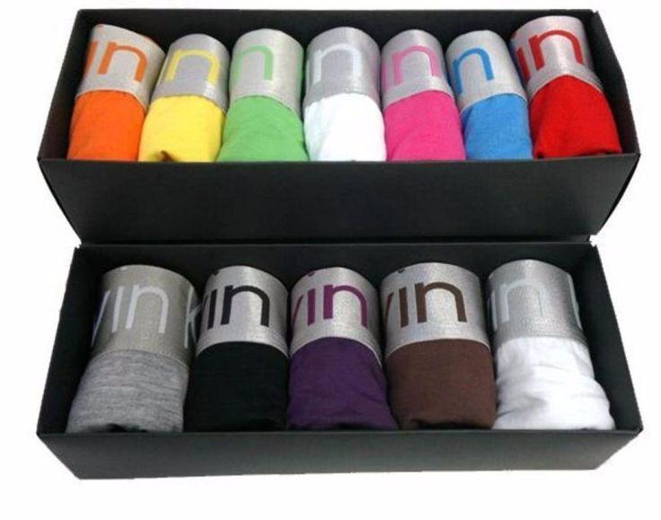 kit com 10 cuecas boxer colorida lisas cos alto marca famosa