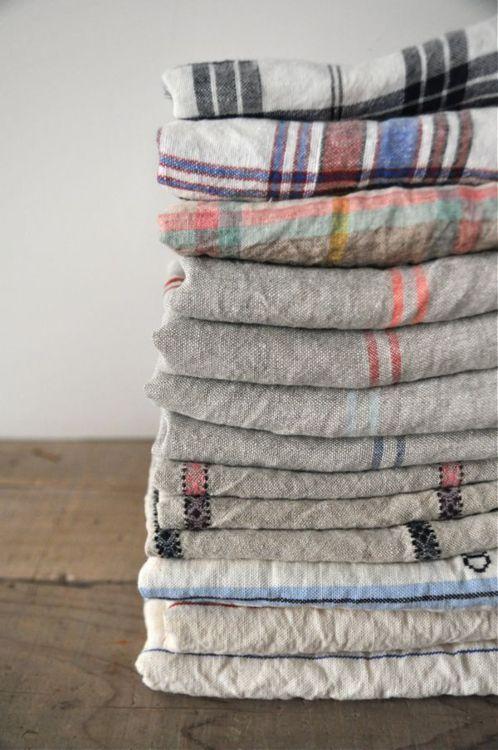 : Turkish Towels, Kitchens Towels, Teas Towels, Linens Tablecloths, Old Linens, Linens Bedrooms, Grey Kitchens, Bedrooms Decor, Fabrics Texture