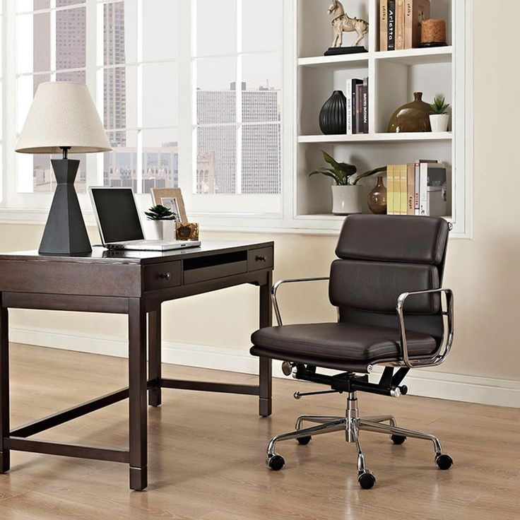 Low back office chair sleek modern furniture contemporary home