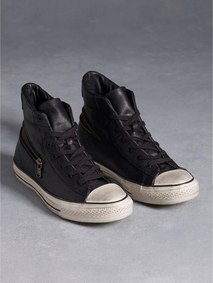 Shop men's designer sneakers with Converse shoes by John Varvatos featuring  The Weapon, Laceless Chuck Taylor All Stars, Hi-Tops & Star Players.