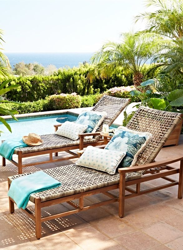 With A Breathable Open Weave, Our Isola Chaise Is The Perfect Fit For  Lounging In. Pool FurnitureOutdoor ...