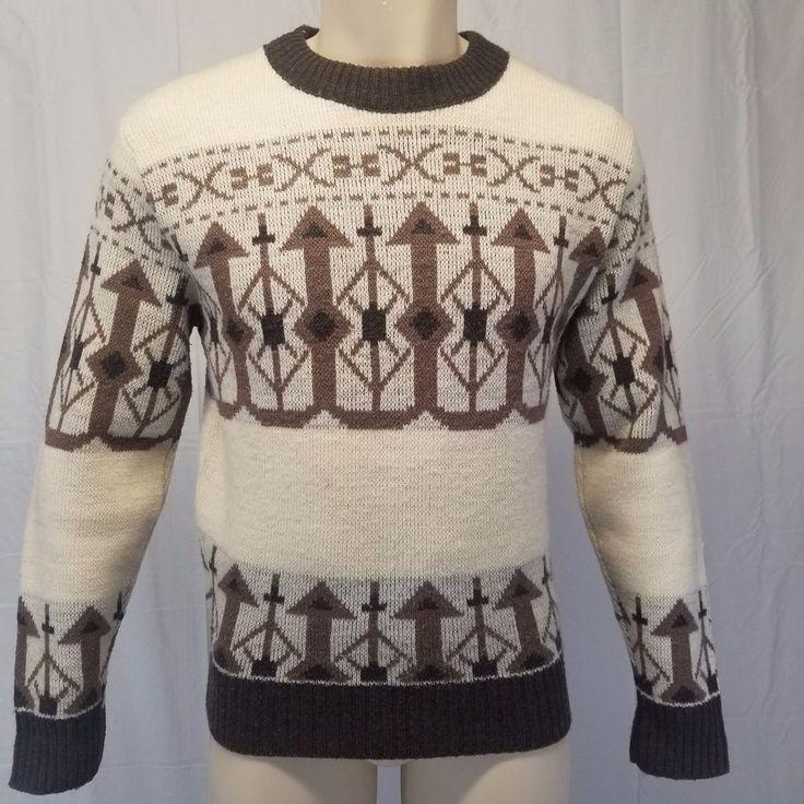 Vintage Arrow Aztec Print Patterned Sweater sKCIhOQAK6