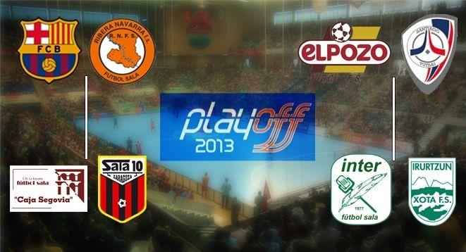 emparejamientos Play Off Futbol Sala 2013