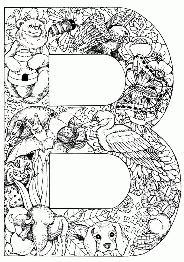 The Letter B Alphabet Letters To Print Animal Alphabet Letters Coloring Pages