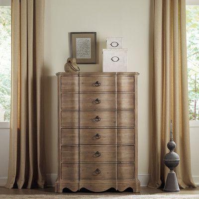 Hooker Furniture Corsica 6 Drawer Chest Finish: Natural