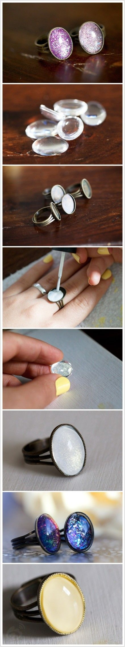 DIY: with ring base & mancala pieces.