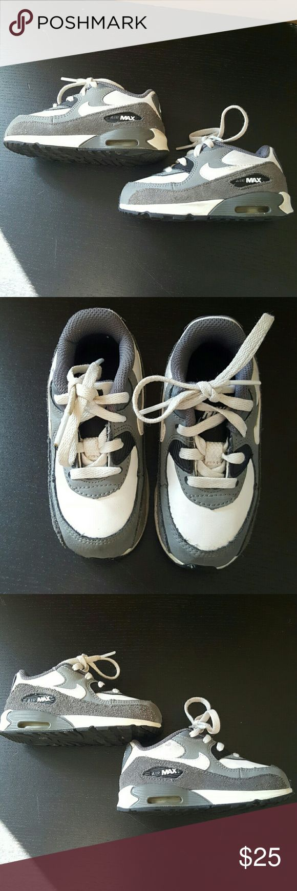 Nike 7c Toddler White Gray Air Max Sneakers Does show some stains.  See close up picture Nike Shoes Sneakers