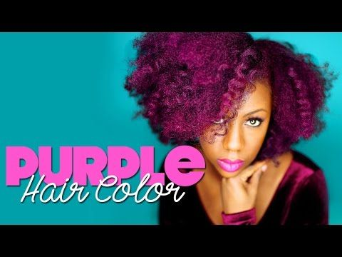 Purple Hair Dye on Natural Hair: Manic Panic Hot Hot Pink & Ultra Violet ( 3/4 of hot hot pink & 1/4 of ultra violet)