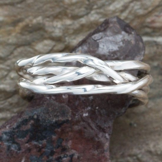 Sterling Silver Weave Band