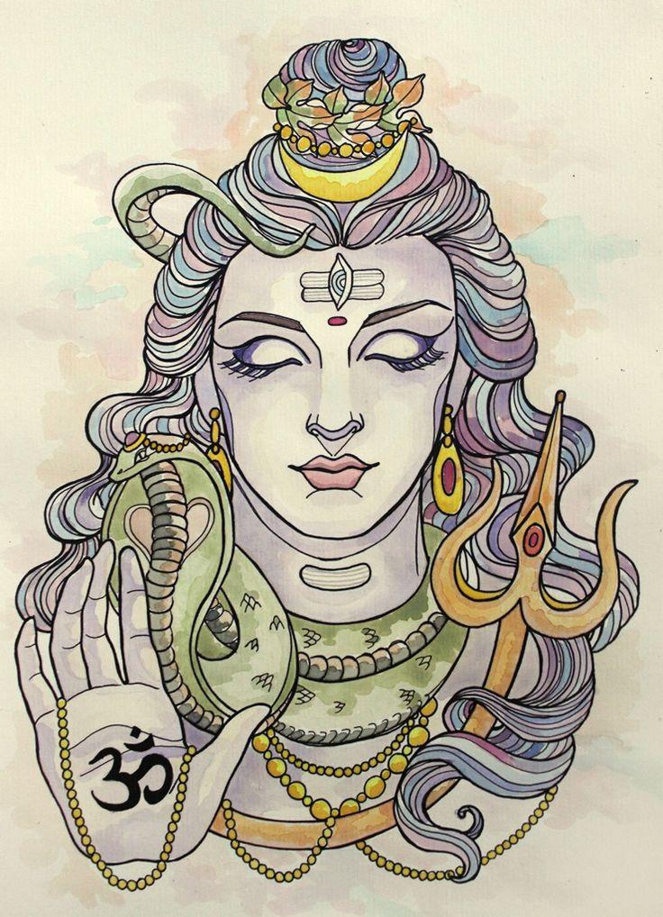 My original painting of shiva