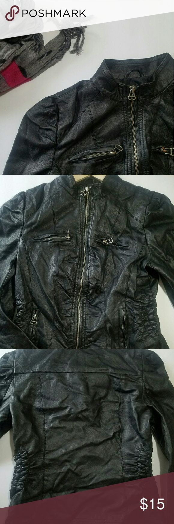 Vegan Leather Jacket This jacket is a wardrobe staple. Can be dressed up or down.  Please check out my closet for other fabulous items! Reasonable offers welcome. Jackets & Coats