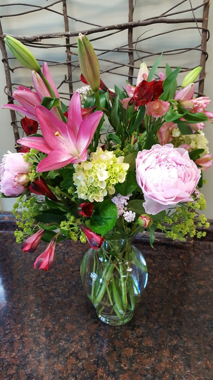 Spring flowers to celebrate a wedding anniversary