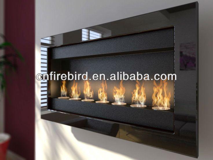 ethanol fireplace fd50 7x round burners wall mounted stainless steel buy ethanol mounted stainless steel ethanol fireplace fireplace - Ethanol Fireplace Insert