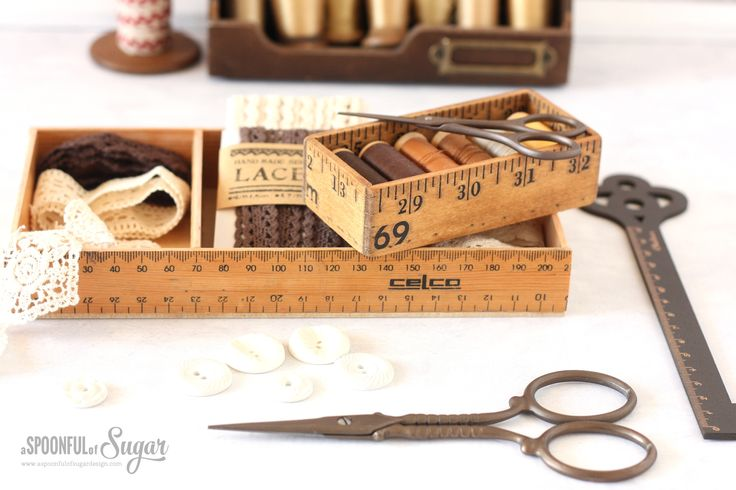 Repurpose old wooden rulers or yardsticks into a ruler box, perfect for storing supplies in your sewing room. Made using the Dremel 4000 & Dremel Moto-Saw.
