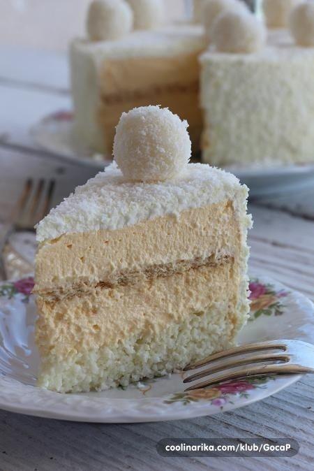 Želite zadiviti vama dragu osobu koja voli kokos (pa bili i vi to sami)? S ovom bijelom i od kokosa tortom onda nećete pogriješiti....pružit će vam potpun užitak svakim zalogajem...