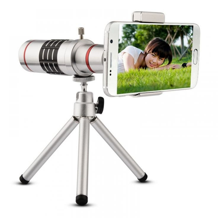 18X Zoom Telescopic Lens + Tripod For iPhone and Android
