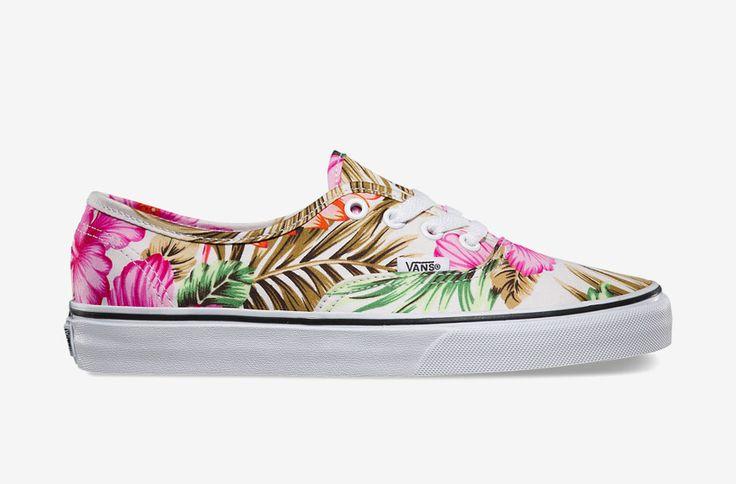Vans Authentic — floral print spring/summer 2015, women / Vans Authentic s rostlinnými vzory — jaro/léto 2015 — dámské tenisky  #vans #authentic #shoes #sneakers #floral #print #women #tenisky #boty