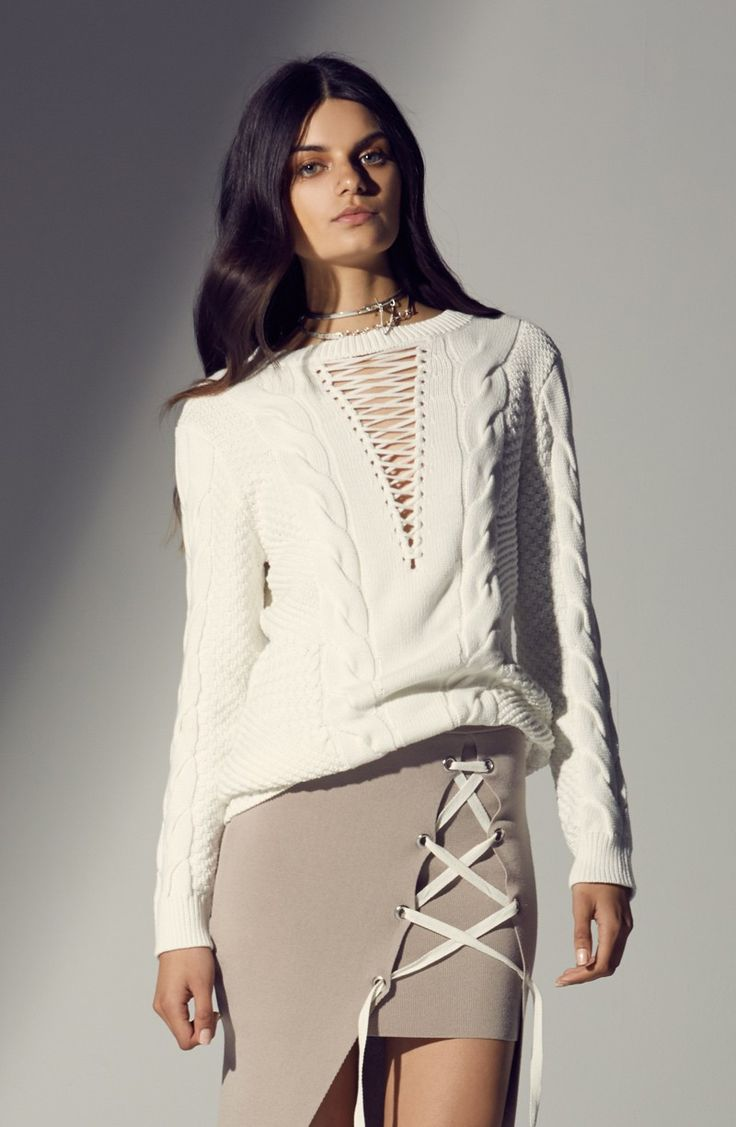 Asilio - The Little Things Knit Skirt - Caviar
