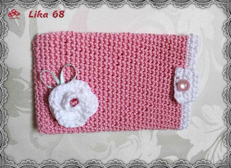 Handytasche gehäkelt in rosa von Lika 68 auf DaWanda.com