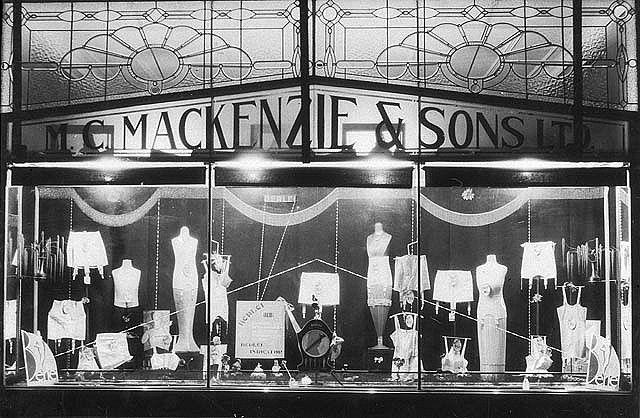 Shop window display of underwear - Glen Innes, NSW, c. 1930 | Flickr - Photo Sharing!