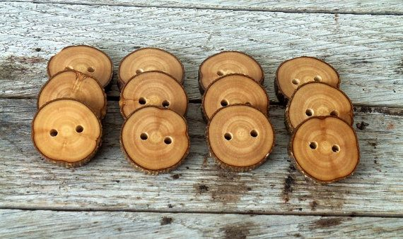 Wood Button - 12  Handmade Olive  tree branch buttons with the bark-1 inch diameter.For purses,knitting hats,crochet hats,handbags,pillows, $12.00