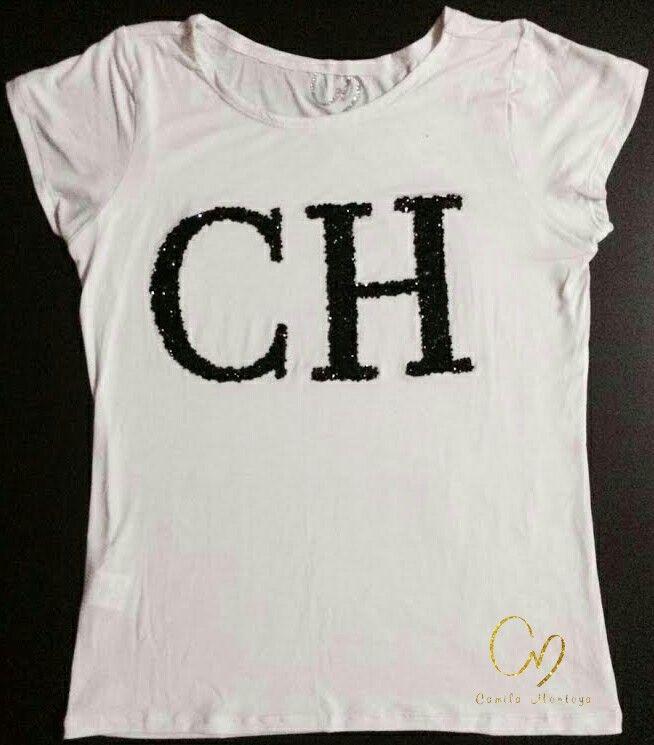 T-Shirt en algodón pima 100%, aplique en pedrería. Colores de camiseta en negro, gris y blanco Pereira - Colombia