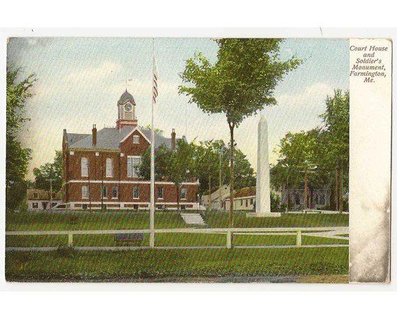 Farmington Maine antique postcard  Franklin by Postcardigans