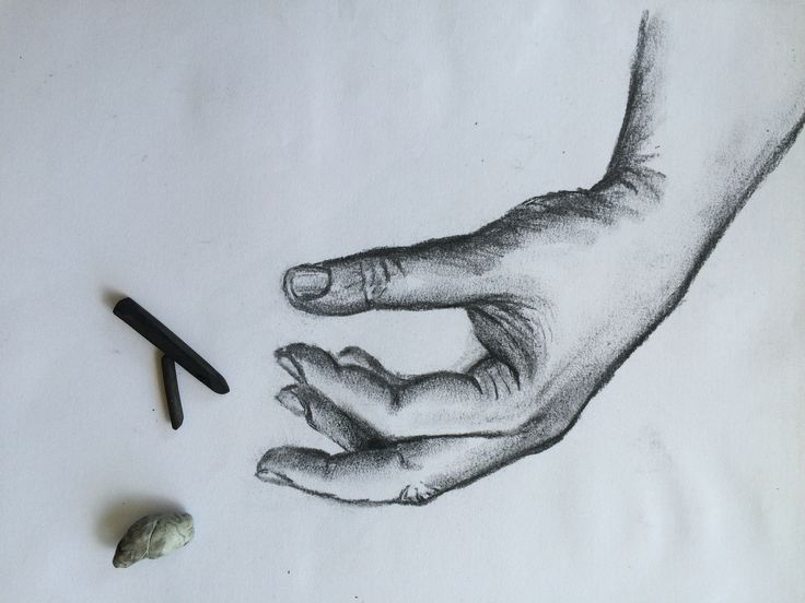 Drawing hands with Charcoal
