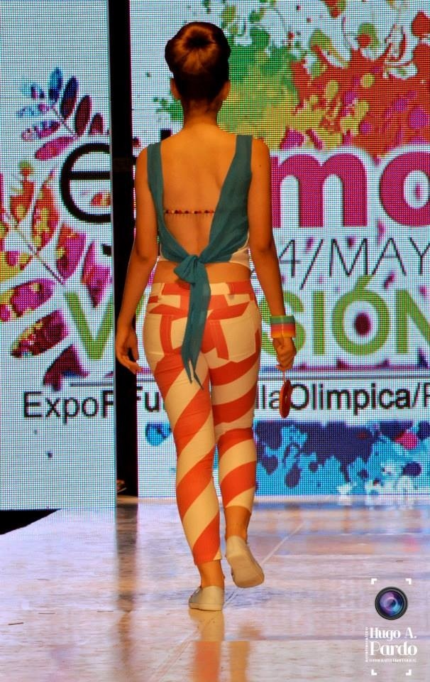 Moda con Rayas diferentes...colorado por natalia muñoz
