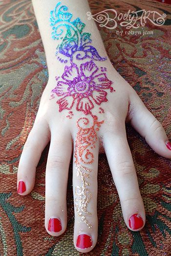 mehndi henna freehand glitter tattoo waterproof temporary body art san francisco bay area