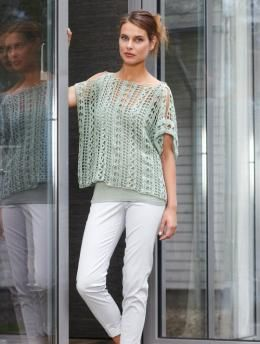 Ladies Crochet Top | A sexy yet casual top that can be dressed up or down from day to night made of Schachenmayr original Catania.